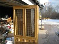 beautiful lighted disaplay cabinet. Glass doors with