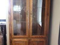 Beautiful China Cabinet. Two glass doors with three