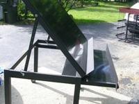 "Metal display table European 48""x40"" box tubing frame"