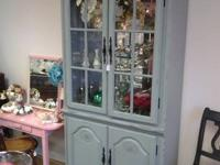 This china hutch received an in house make over
