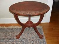 THIS IS A FUNKY FUN TABLE: SIZE AND COLOR BOTH. IT WAS