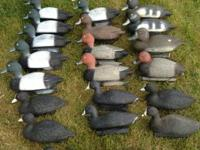 21 diver decoys all in great shape $65 Mix of teal
