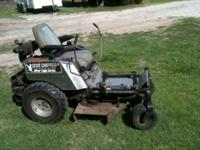 34 inch cut mower with 27hp engine and 3 blades! These