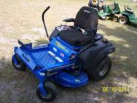 This is a commercial grade zero turn mower made by