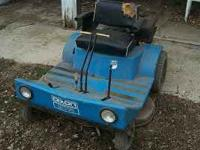 This is a older used Dixon ZTR 424 lawnmower. It has a