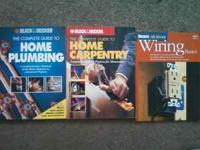DIY plumbing, carpentry, wiring books. $10 for all. all
