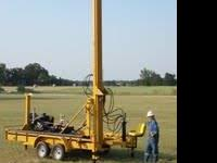 DIY waterrwell drilling rig for rent $650.00 a day 3
