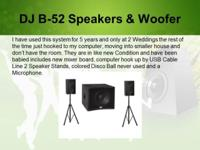 B-52 3-Piece Powered Speaker System Includes 2 Speaker