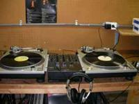 2-mk2 technics turntables 2-m44-7 needles 21-slip mats
