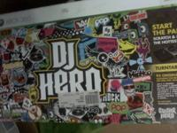 DJ Hero Turntable & 4 Xbox 360 Games. There is no game