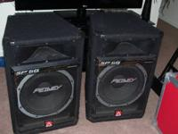 Complete DJ set up with Speakers, speaker stands,