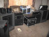 HAVE A FEW SET UPS, SPEAKERS, AMPS AND SOME DJ MIXERS,