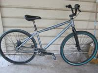 DK 24 inch single speed BMX cruiser with disk brakes.