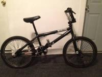 This is a DK Cincinnati BMX bike. It has 14mm front and