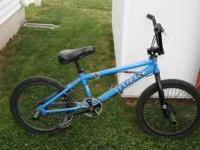 "For Sale - dk Blue ""Six Pack"" BMX bike in good"