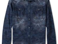 DKNY Jeans takes on the camo trend for this new shirt,