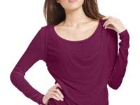 DKNY Jeans offers a layered look in one easy top with