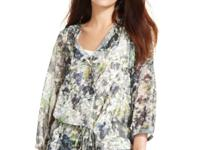 This floral-print semi-sheer top by DKNY Jeans adds