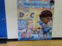 Full Doc Mcstuffins party decorations a few store