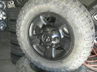 "USED-2003up Dodge 17"" alum wheels and tires--fit 1994up"