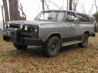 FOR SALE BY ORG. ONE OWNER DODGE 1987 RAMCHARGE FULL