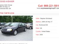 For more information about 08 DODGE AVENGER visit