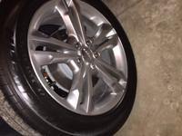 "Brand New 19"" Satin Carbon Aluminum Wheels w."