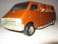 Dodge custom surf van toy with mural and deluxe plastic