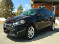 Used 2013 Dodge Dart Limited Black Exterior with White