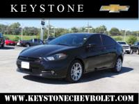 Feast your eyes on this black 2013 Dodge Dart! It comes