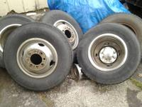 "I have a set of 16"" dually rims and tires two of the"