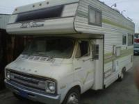 1975 Dodge Field/Stream Motorhome runs good everything
