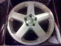 "18""stock rims off a 2008 Dodge Magnum RT AWD. Will fit"