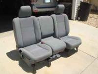 Dodge Ram seats are in overall good condition besides