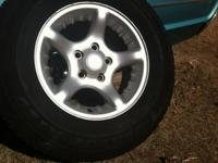 265/70/17 dodge wheels and tires they are not the steal