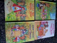 4 hard-back pop-up books,--$10/set. 4 hard-back books