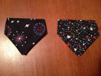 I make dog bandanas that are designed to slide onto the