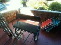 Great dog cart, sulky style, with double seat,