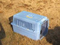 This crate is made of durable, sturdy hard plastic. The