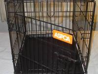 Top Paw ASPCA pet dog crate, black covered steel,
