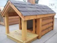For sale: Cedar dog houses. These houses are available