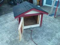I built this dog house for a pug, we no longer have the