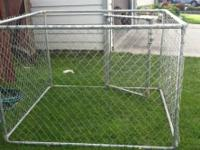 Dog Kennel 6 ft. x 6 ft. x 4 ft. Kennel Galvanized