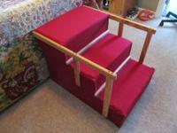 Dog/Pet steps with railings. Handmade heavy