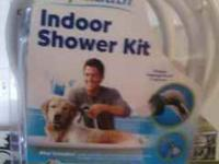 This was used one time , it is a indoor shower kit you