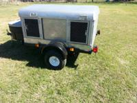 The trailer is a 5x4 and is a very nice trailer. Pulls