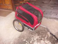 I have a very nice Doggie trailer that attaches to a