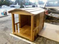 This is Costume Hand Made SOLID OAK DOGHOUSE 24x18