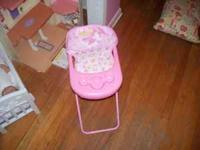 doll high chair and shopping cart in excellent