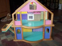 Doll house, great for use with Barbie or Fisher Price